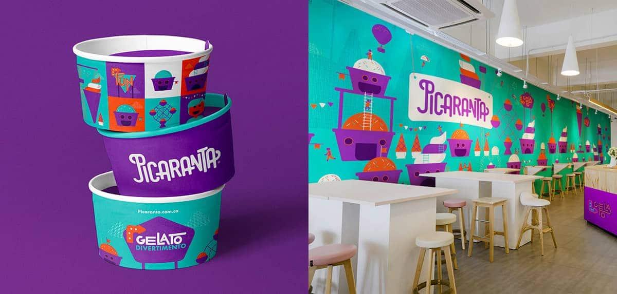 Identidad visual de marca para gelato